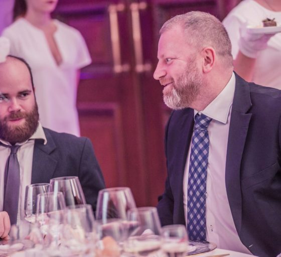 Spolumajitel Severní energetické Jan Dienstl (vpravo) a hlavní editor webu E15.cz Jan Vávra