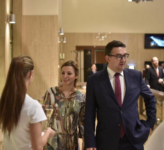 Šéf Národního muzea Michal Lukeš s manželkou